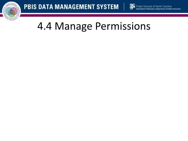 4.4 Manage Permissions