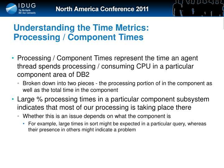 Understanding the Time Metrics: