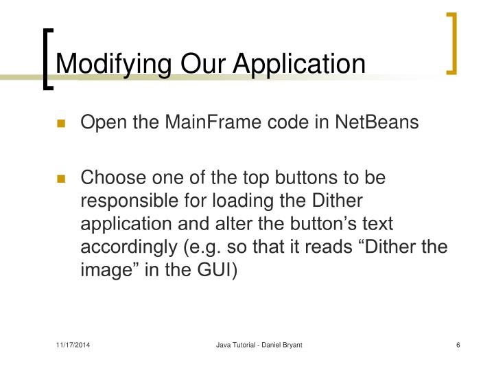 Modifying Our Application