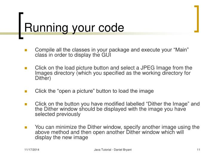 Running your code