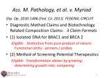ass m pathology et al v myriad