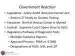 government reaction