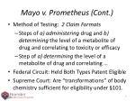 mayo v prometheus cont