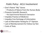 public policy aclu involvement