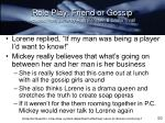 role play friend or gossip adapted from same by ruth peristein gloria thrall2