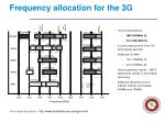 frequency allocation for the 3g