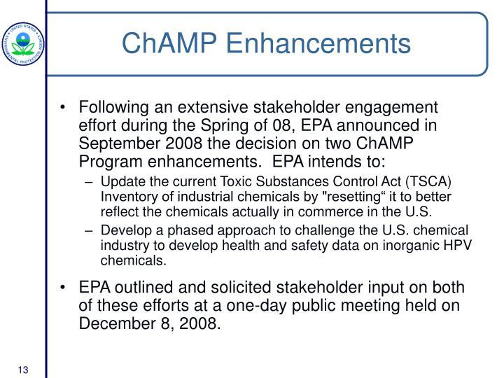 ChAMP Enhancements