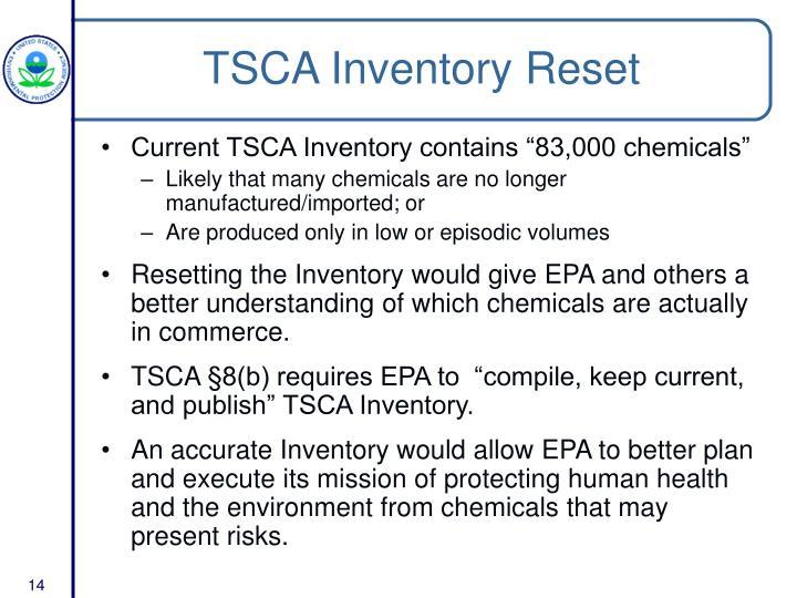TSCA Inventory Reset