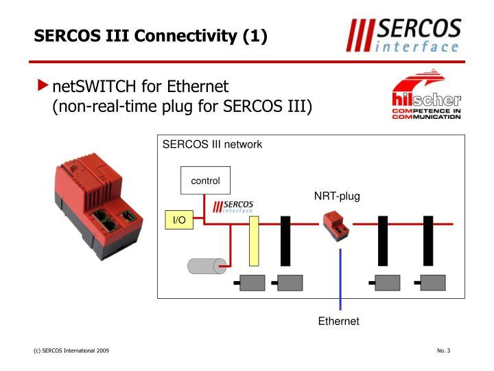 Sercos iii connectivity 1