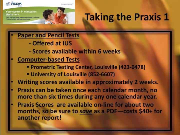 Taking the Praxis 1