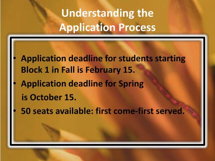 Understanding the application process