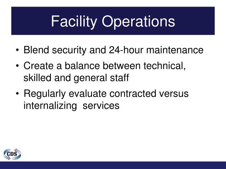 Facility Operations
