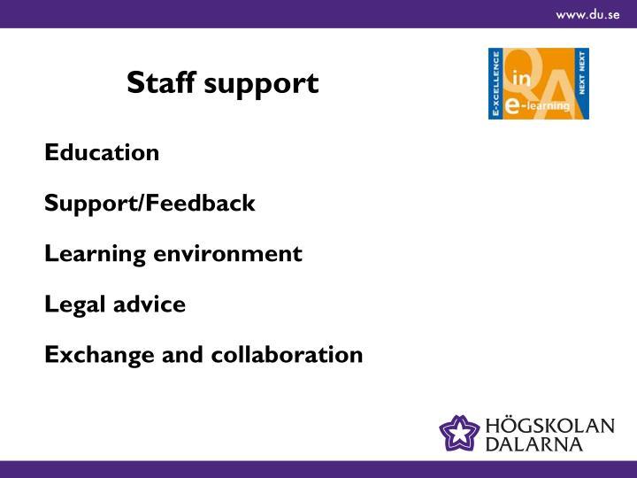 Staff support