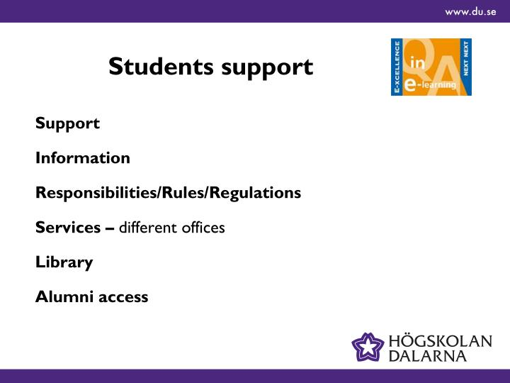 Students support