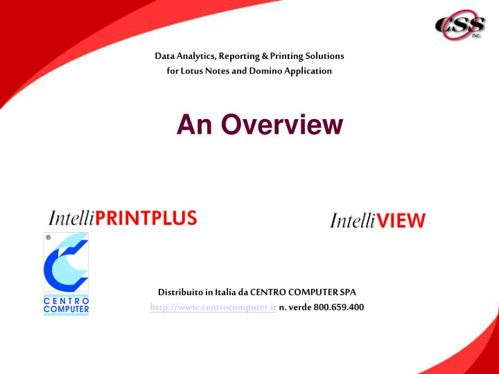 data analytics reporting printing solutions for lotus notes and domino application