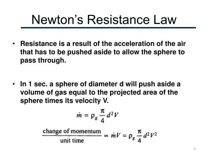 Newton s resistance law