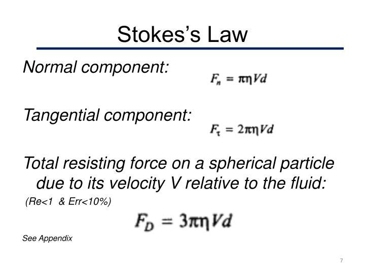 Stokes's Law