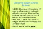 comparing indigent defense systems