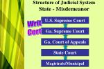 structure of judicial system state misdemeanor
