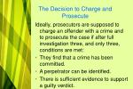 the decision to charge and prosecute