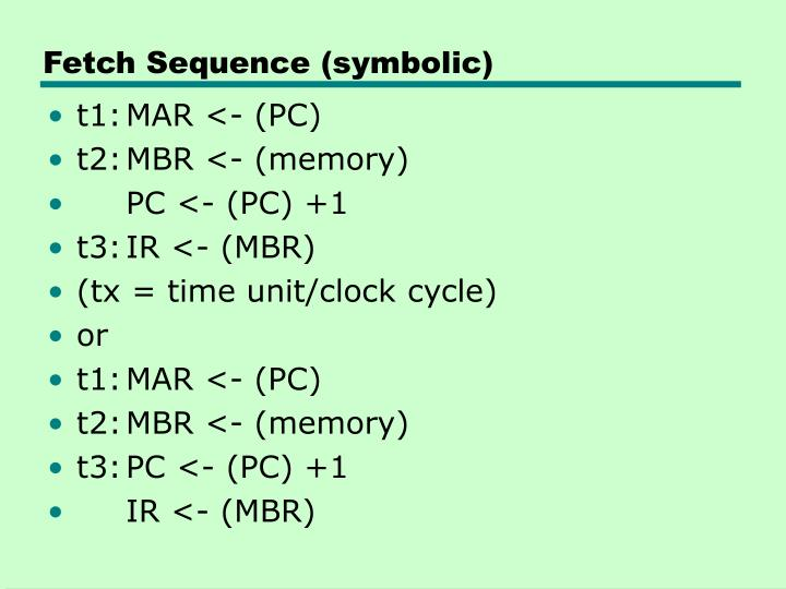 Fetch Sequence (symbolic)