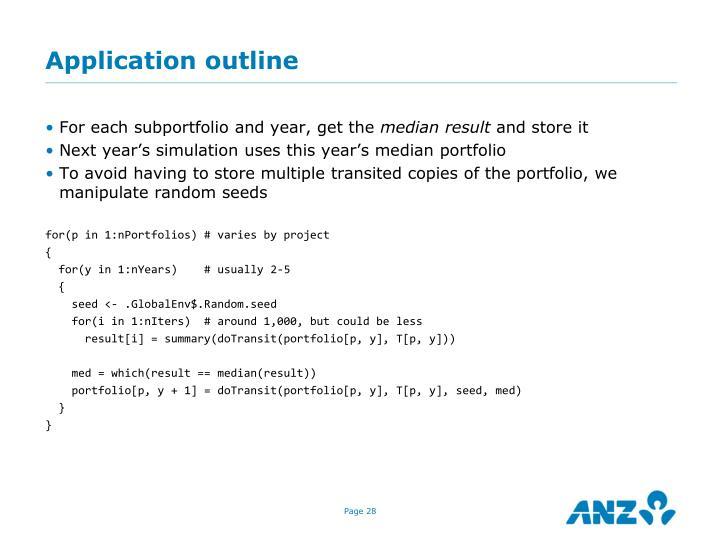 Application outline