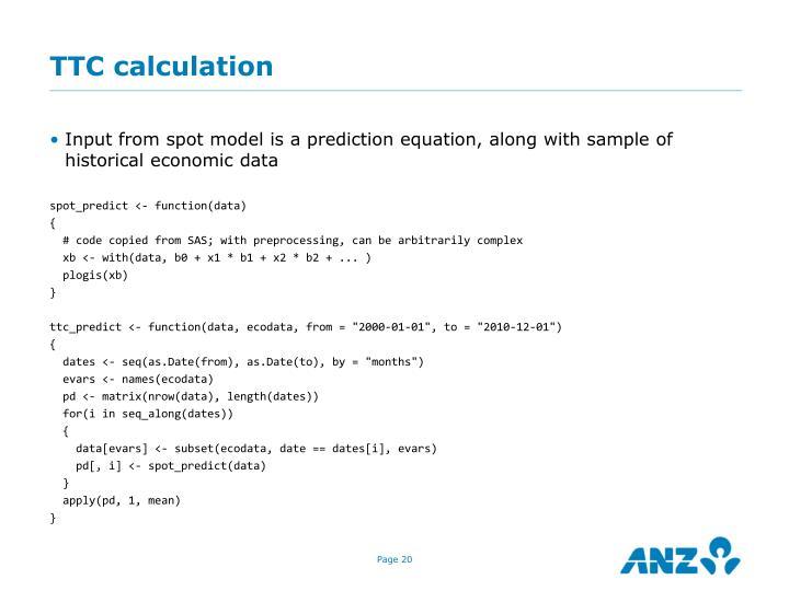 TTC calculation