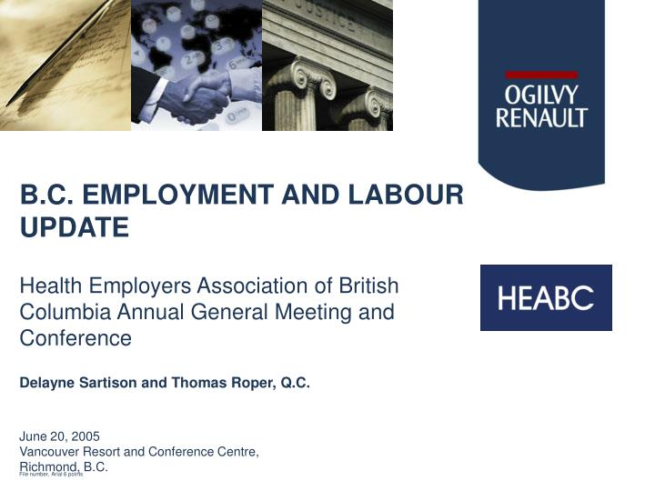 B c employment and labour update