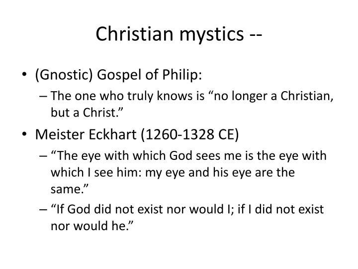 Christian mystics --