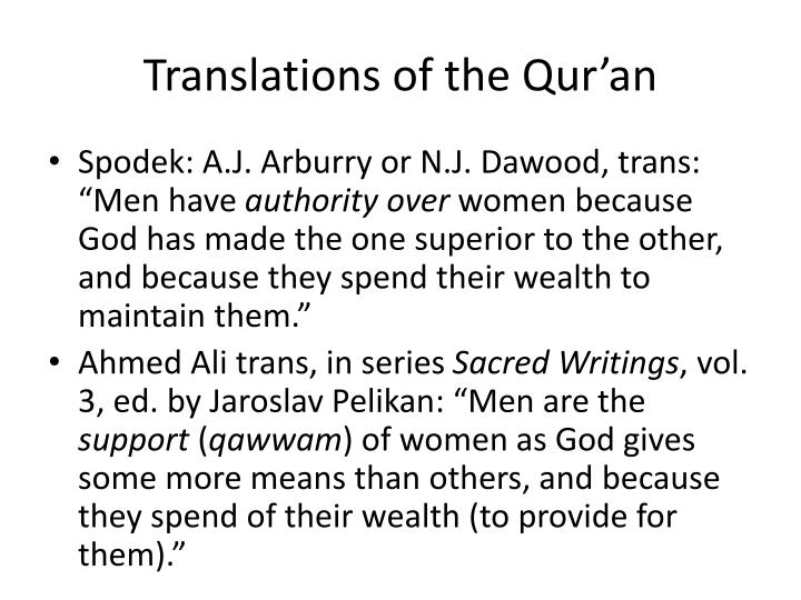 Translations of the Qur'an
