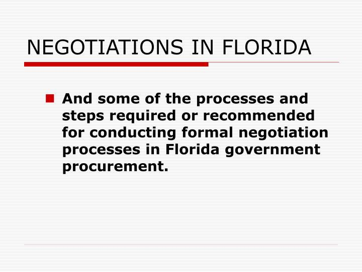 Negotiations in florida2