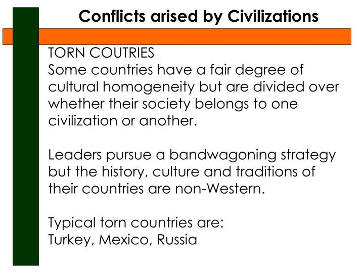 Conflicts arised by Civilizations
