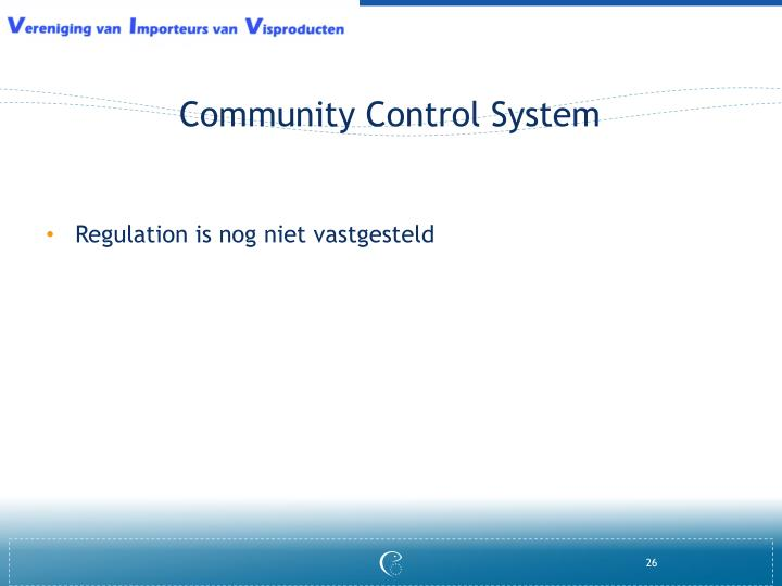 Community Control System