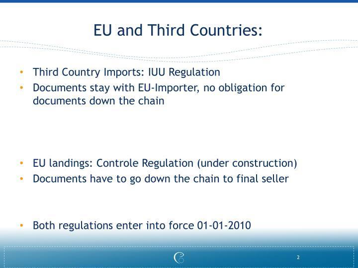 Eu and third countries