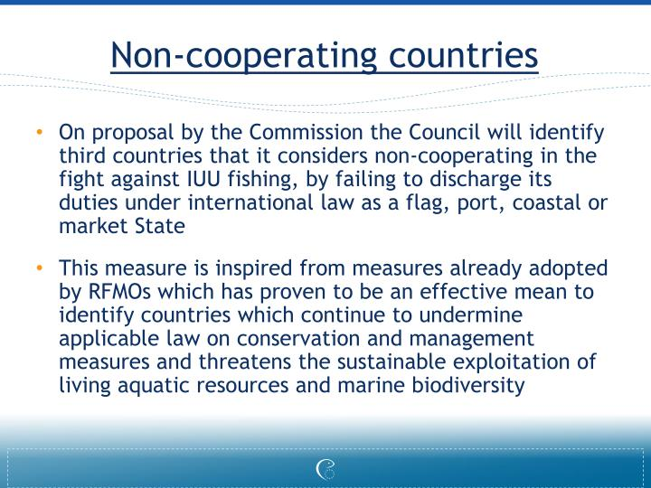 Non-cooperating countries