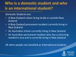 who is a domestic student and who is an international student