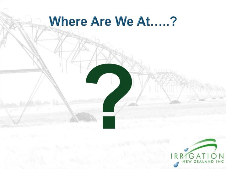 Where Are We At…..?