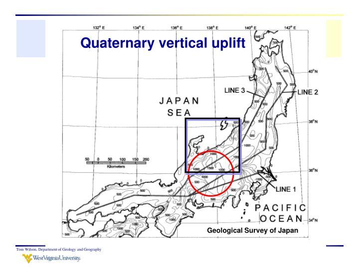 Quaternary vertical uplift