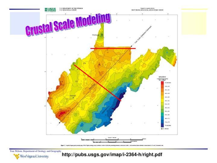 Crustal Scale Modeling