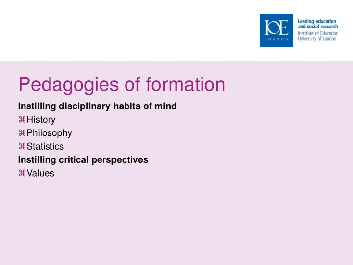 Pedagogies of formation