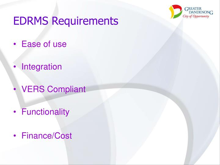 EDRMS Requirements