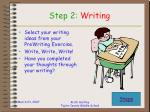 step 2 writing