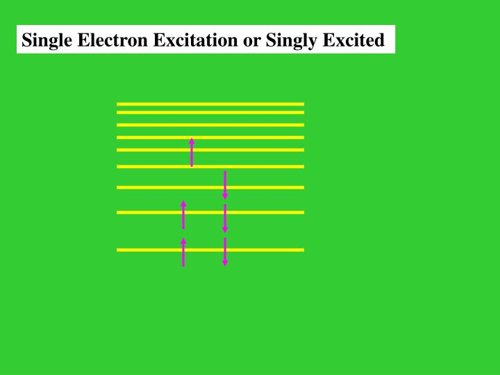 Single Electron Excitation or Singly Excited
