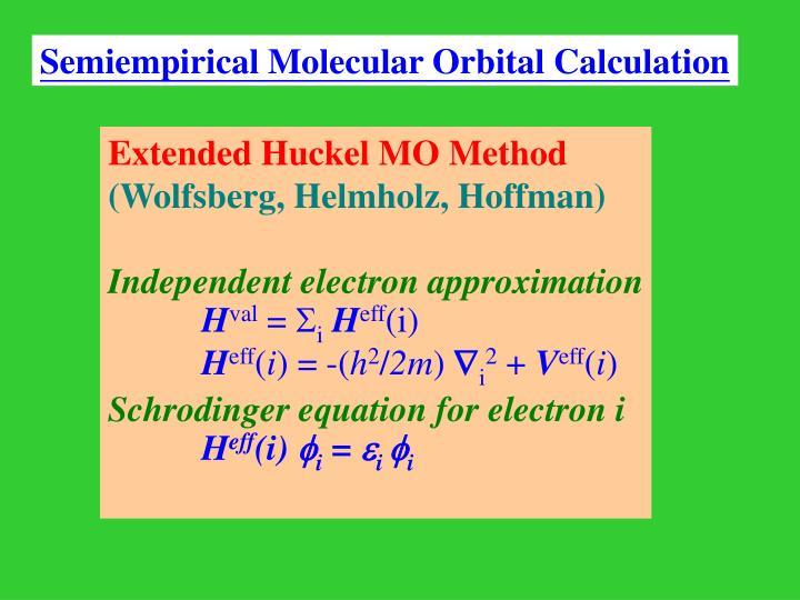 Extended Huckel MO Method