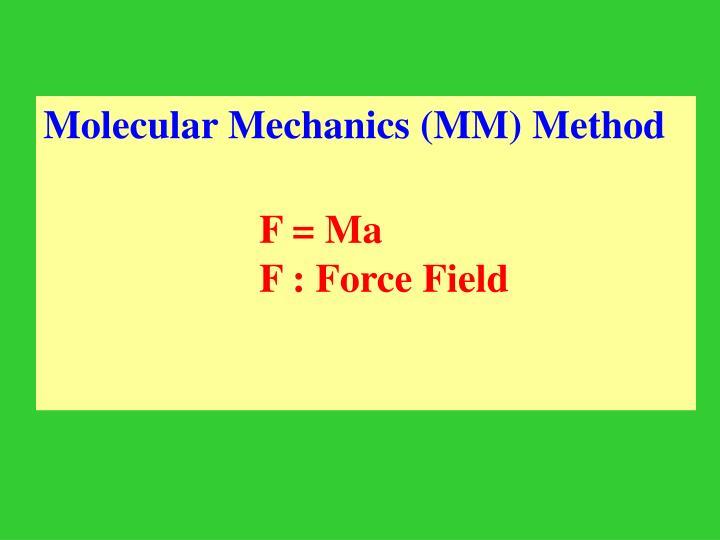 Molecular Mechanics (MM) Method