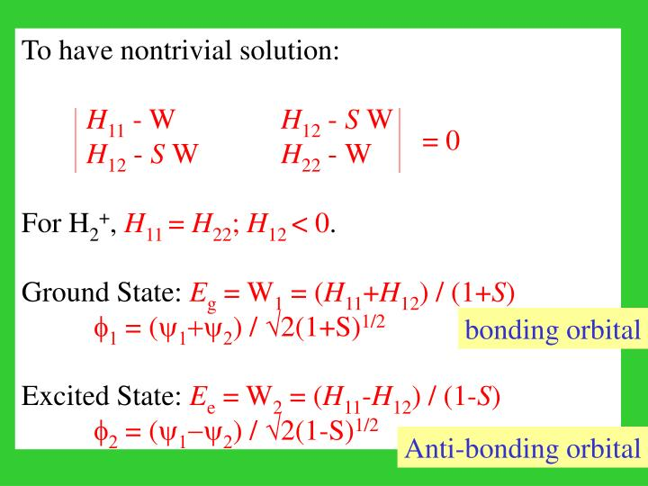 To have nontrivial solution:
