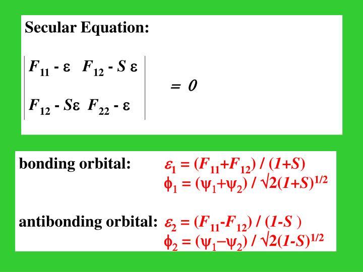 Secular Equation: