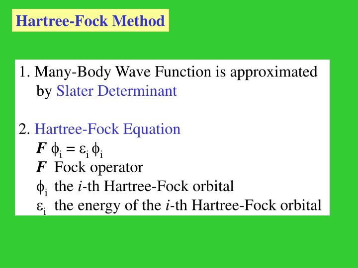Hartree-Fock Method