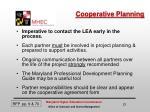 cooperative planning