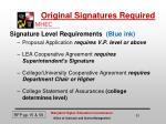 original signatures required
